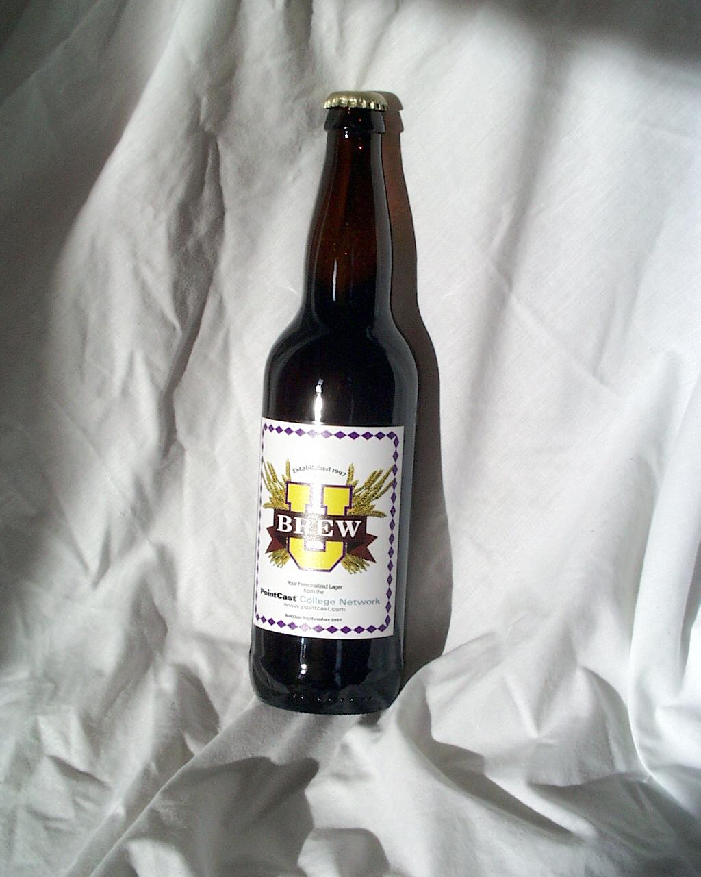 Label on Beer Bottle