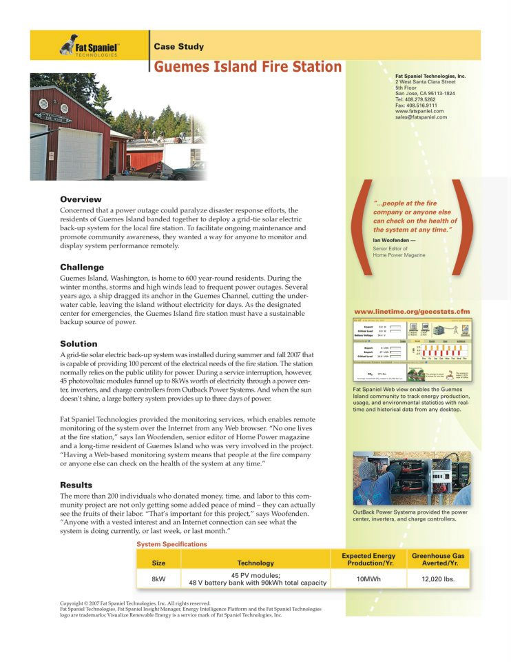 Guemes Island Case Study for FST