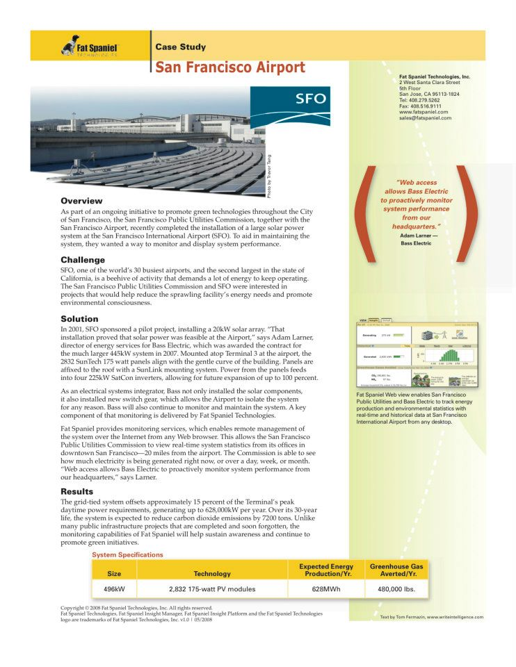 San Francisco Airport Case Study for FST