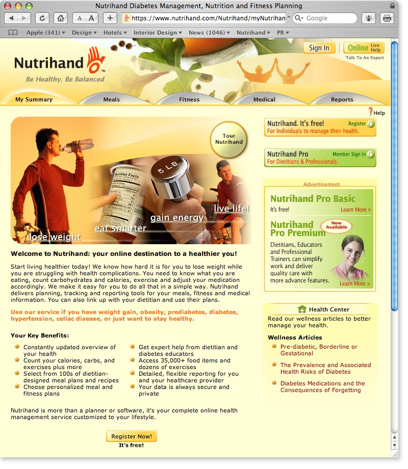 Nutrihand Website Design