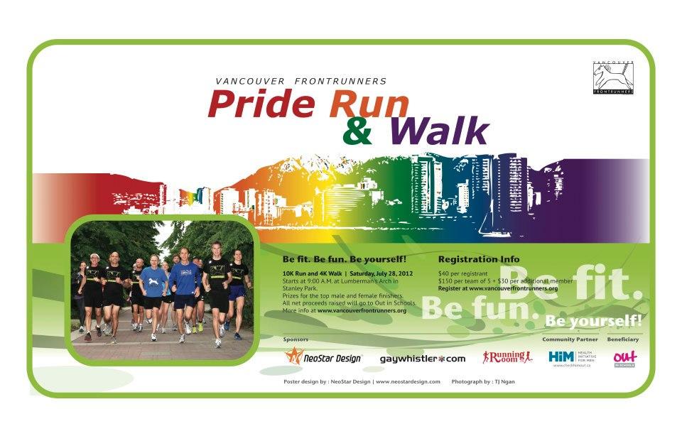 Pride Run Walk Poster