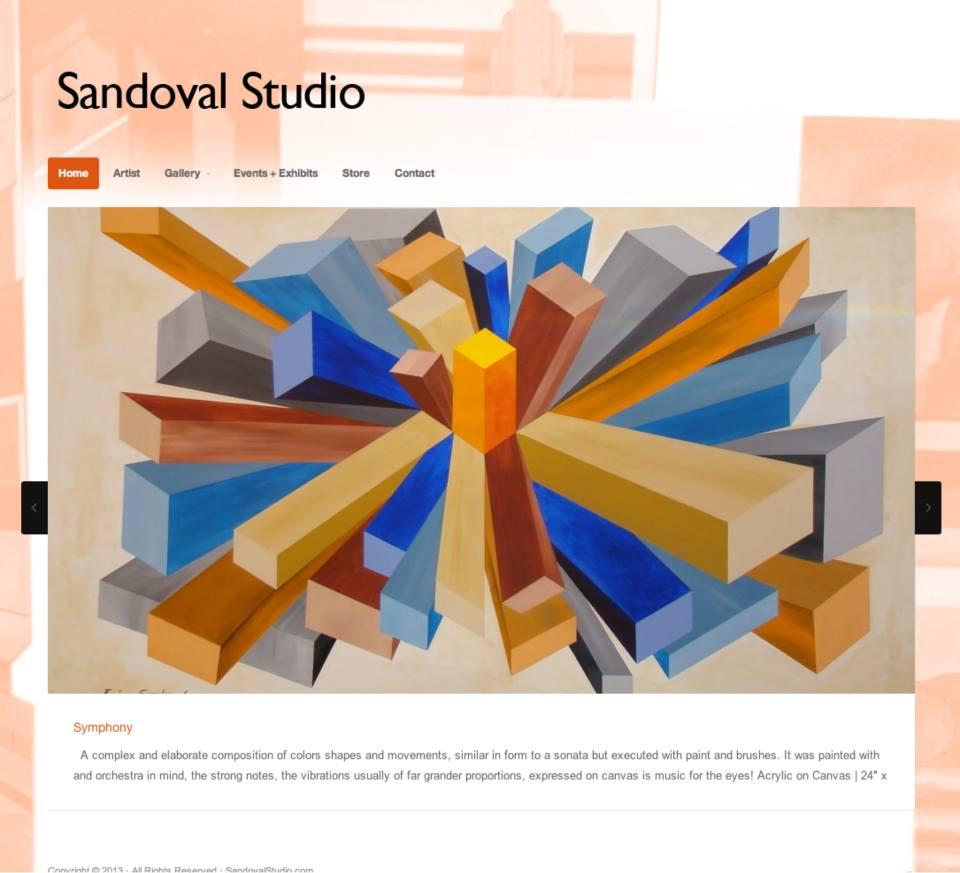 Sandoval Studio.com Homepage