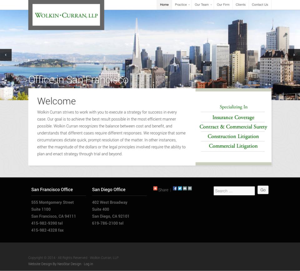 Wolkin Curran.com Homepage